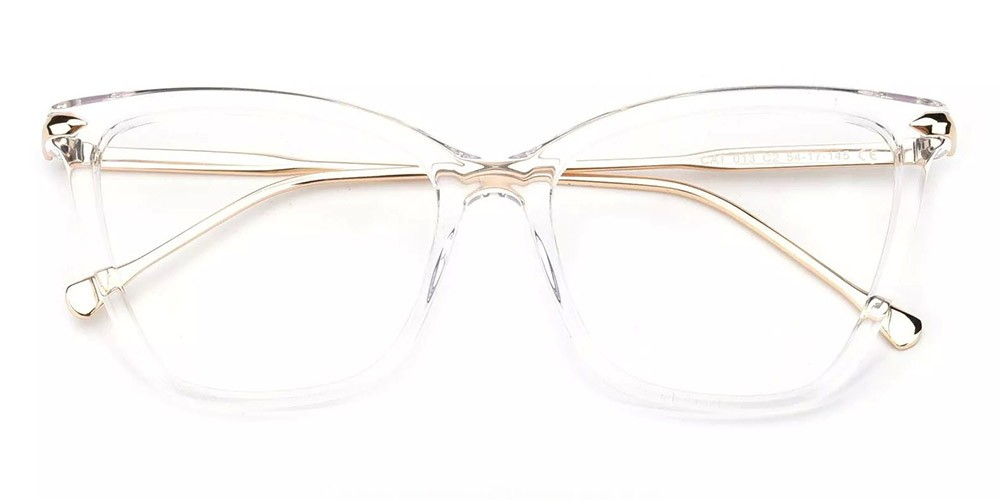 Hampton Cat Eye Prescription Glasses - Handmade Acetate - Clear