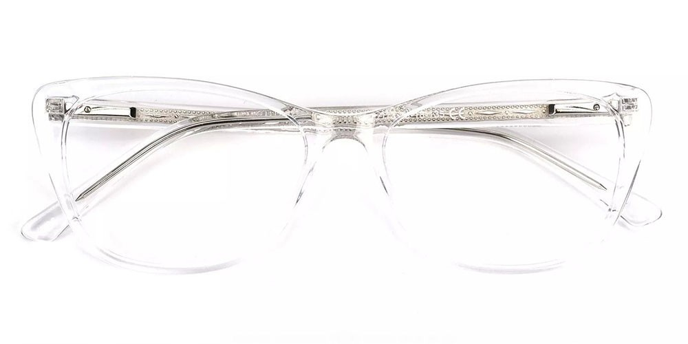 Tyler Cat Eye Prescription Glasses - Handmade Acetate - Clear