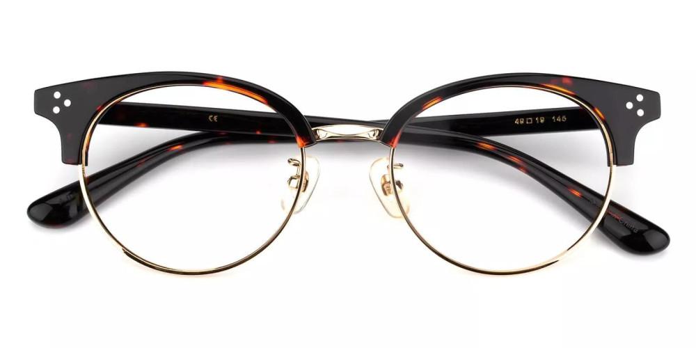 Clinton Acetate Eyeglasses Black Demi