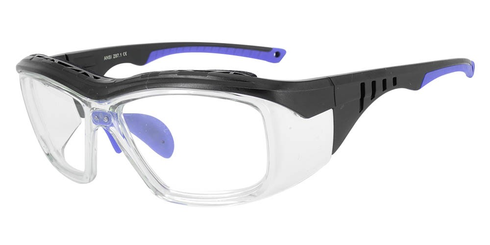 Fusion Omaha Prescription Safety Glasses Blue Clear - ANSI Z87.1 Certified Stamped