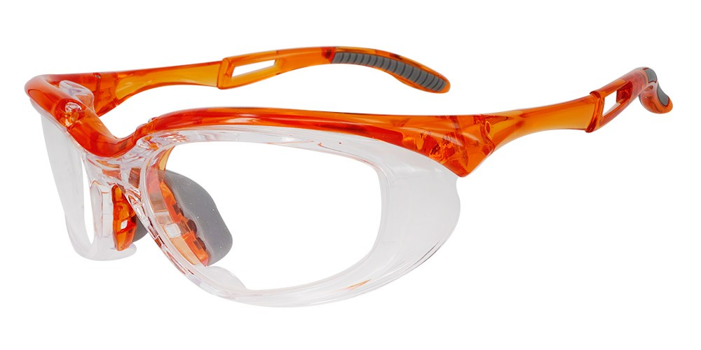 Fusion Toledo  Prescription Safety Glasses Orange - ANSI Z87.1 Certified Stamped