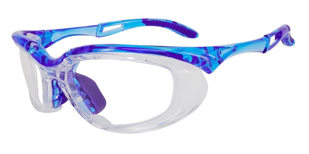 Fusion Toledo  Prescription Safety Glasses Blue - ANSI Z87.1 Certified Stamped