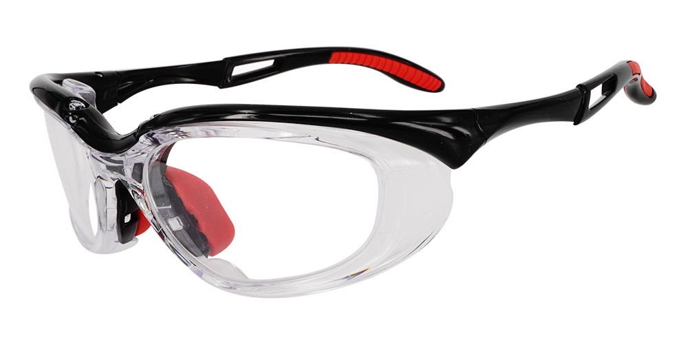 Fusion Toledo  Prescription Safety Glasses Black - ANSI Z87.1 Certified Stamped