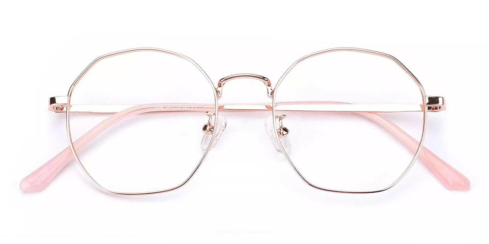 Downey Prescription Glasses Gold