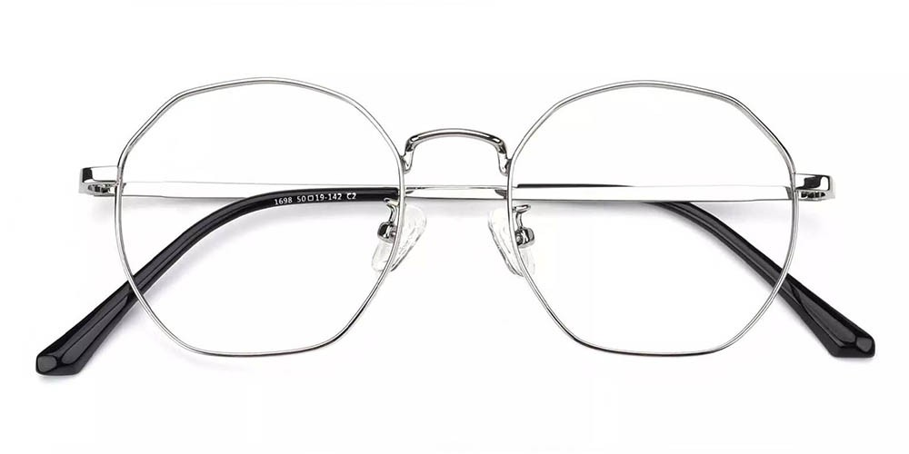 Downey Prescription Glasses Silver