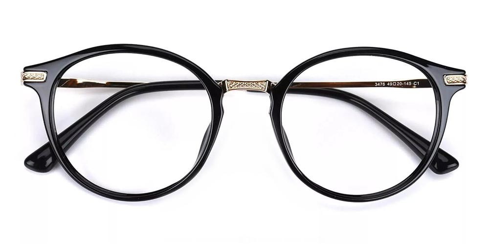 Allen Acetate Eyeglasses Black