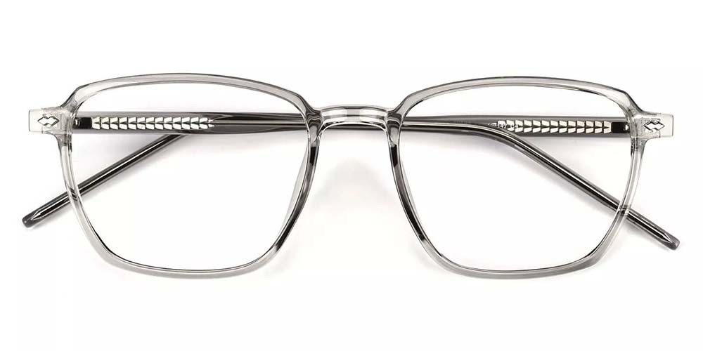Joliet Prescription Glasses - Light & Strong TR90 - Clear Grey