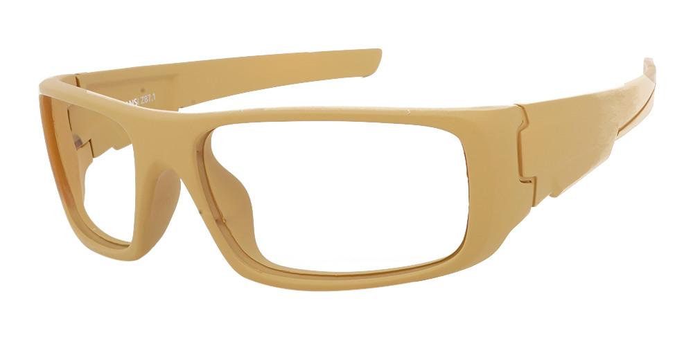 Fusion Amarillo Prescription Safety Glasses Almond  -- ANSI Z87.1 Rated