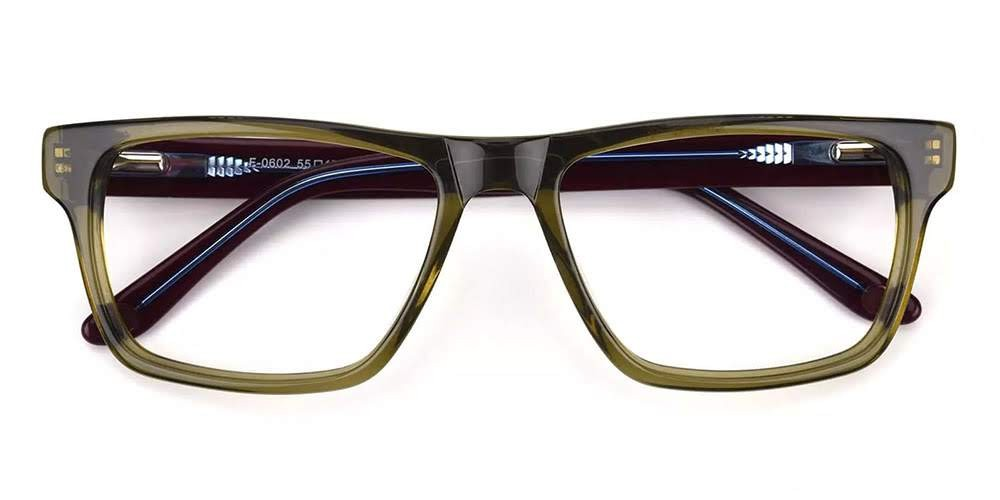 Hillsboro Acetate Eyeglasses Green