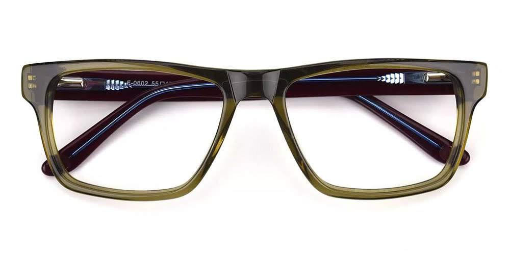 Hillsboro Acetate Eyeglasses Green