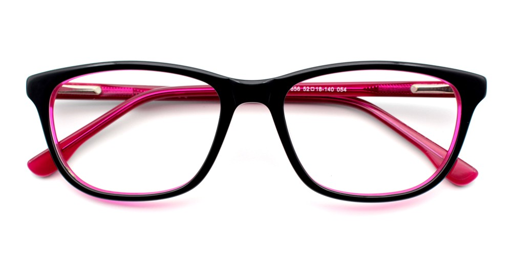 Harper Eyeglasses  Blackred