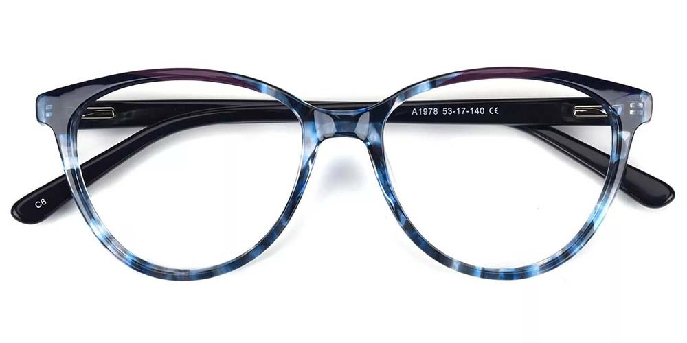 Kenosha Cat Eye Prescription Glasses - Handmade Acetate - Demi
