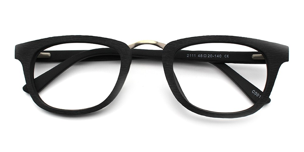 Hunter Eyeglasses Black Wood