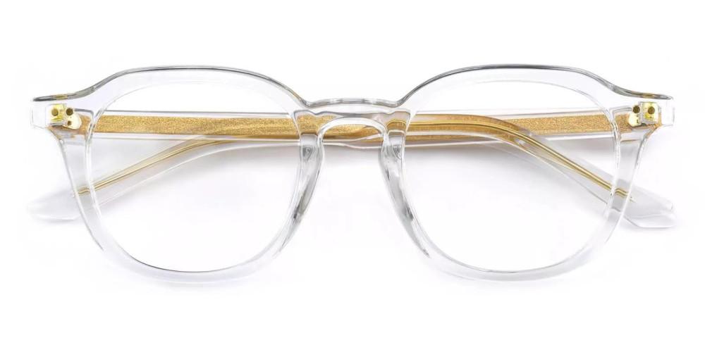 Edison Acetate Eyeglasses Clear