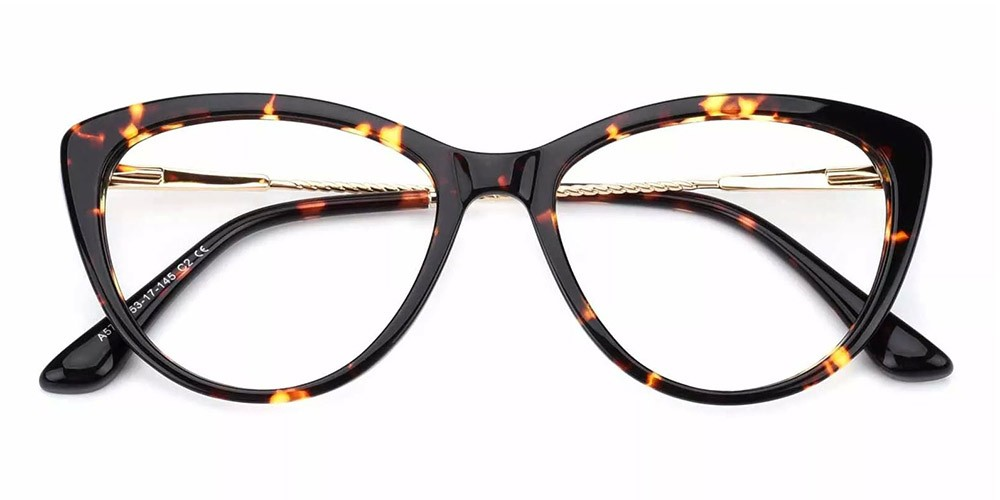 Aberdeen Cat Eye Prescription Glasses - Handmade Acetate - Tortoise