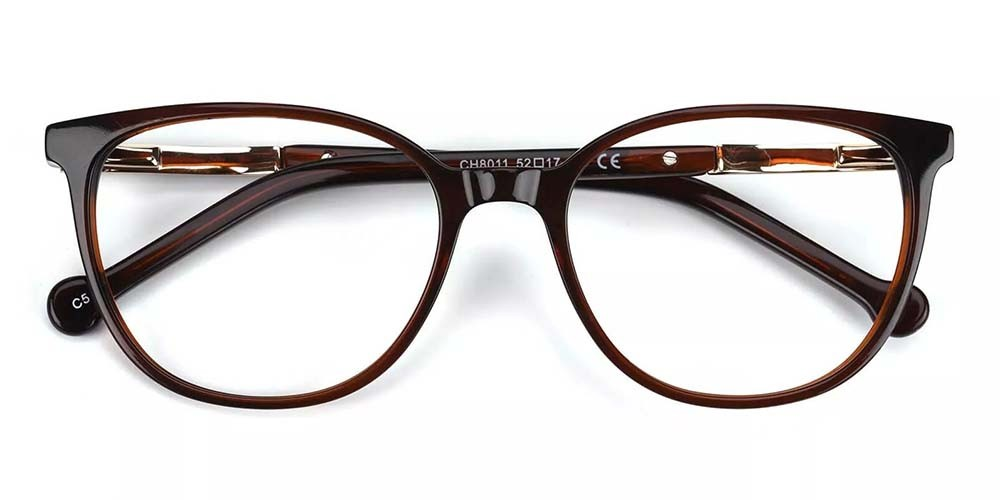 Pueblo Cat Eye Prescription Glasses - Handmade Acetate - Brown