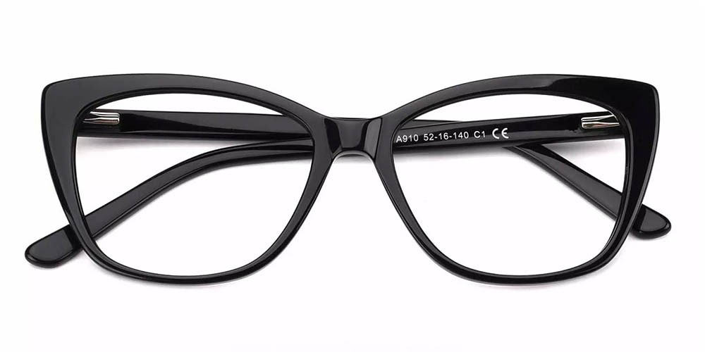 Everett Cat Eye Prescription Eyeglasses Black