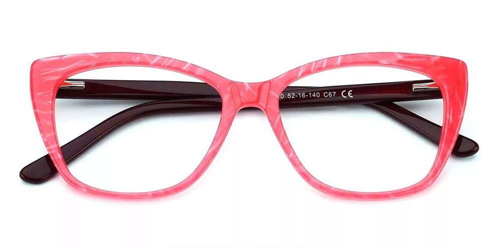 Everett Cat Eye Prescription Eyeglasses Red