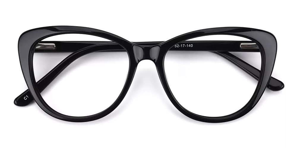 Marina Cat Eye Women Eyeglasses Black