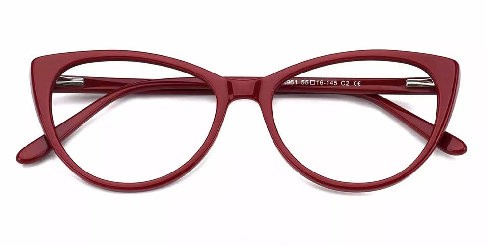 Costa Cat Eye Prescription Eyeglasses Red