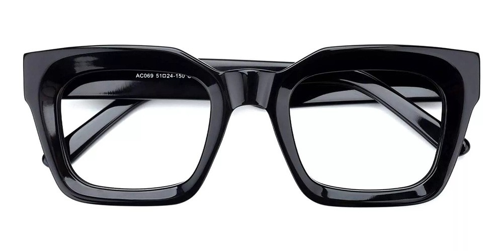 Mobile Prescription Glasses - Handmade Acetate - Black