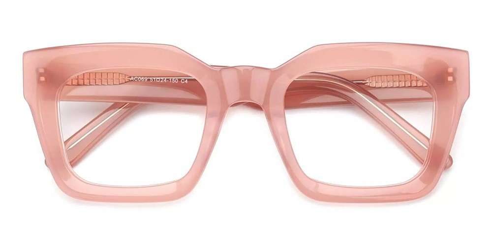 Mobile Prescription Glasses - Handmade Acetate - Pink