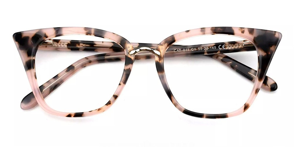 Stamford Cat Eye Prescription Glasses - Handmade Acetate - Tortoise