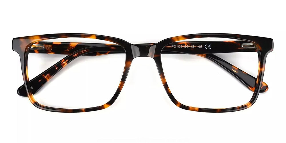 Quincy Prescription Glasses - Handmade Acetate - Tortoise
