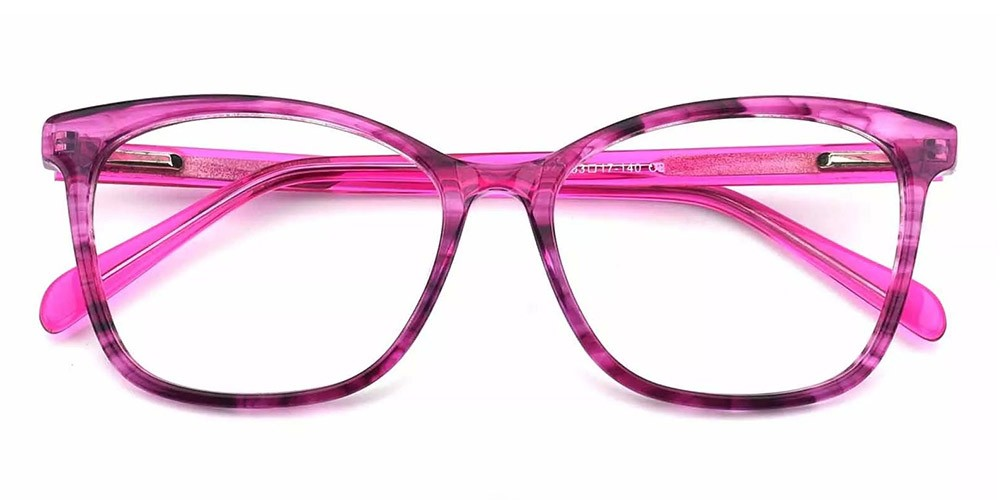 Benicia Cat Eye Prescription Glasses - Handmade Acetate - Red