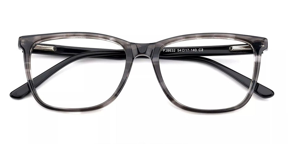 Benicia Cat Eye Prescription Glasses - Handmade Acetate - Grey