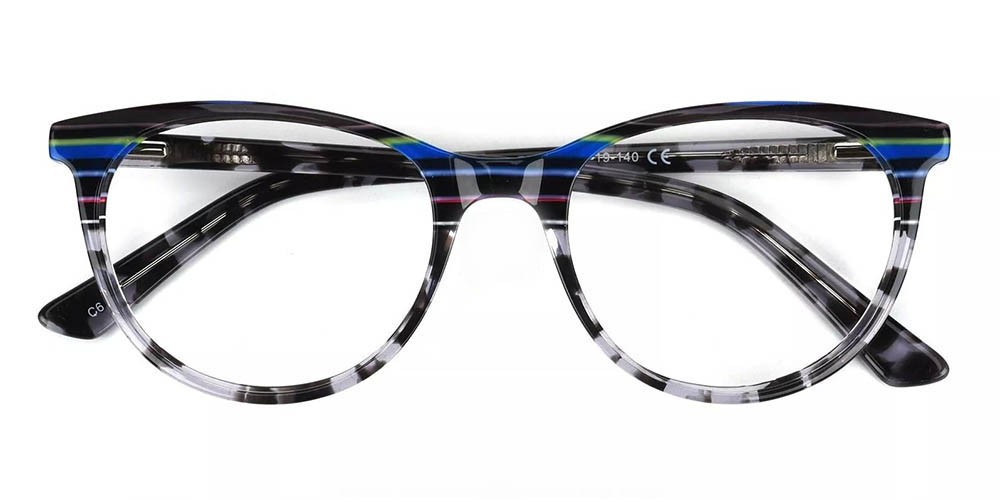 Athens Cat Eye Prescription Glasses - Handmade Acetate - Tortoise