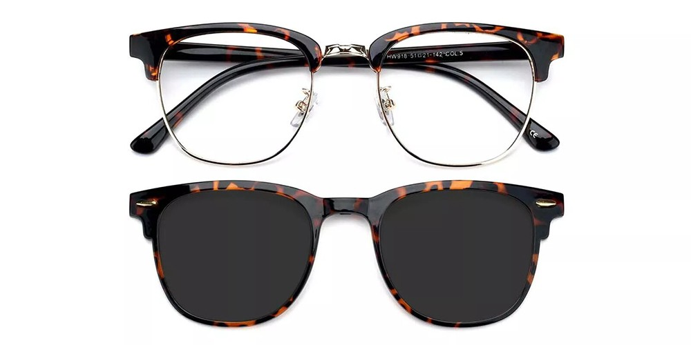 Ontario Clip On Prescription Sunglasses Tortoise
