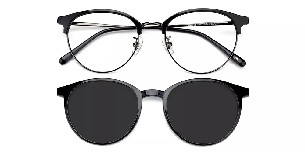 Vancouver Clip On Prescription Sunglasses Black