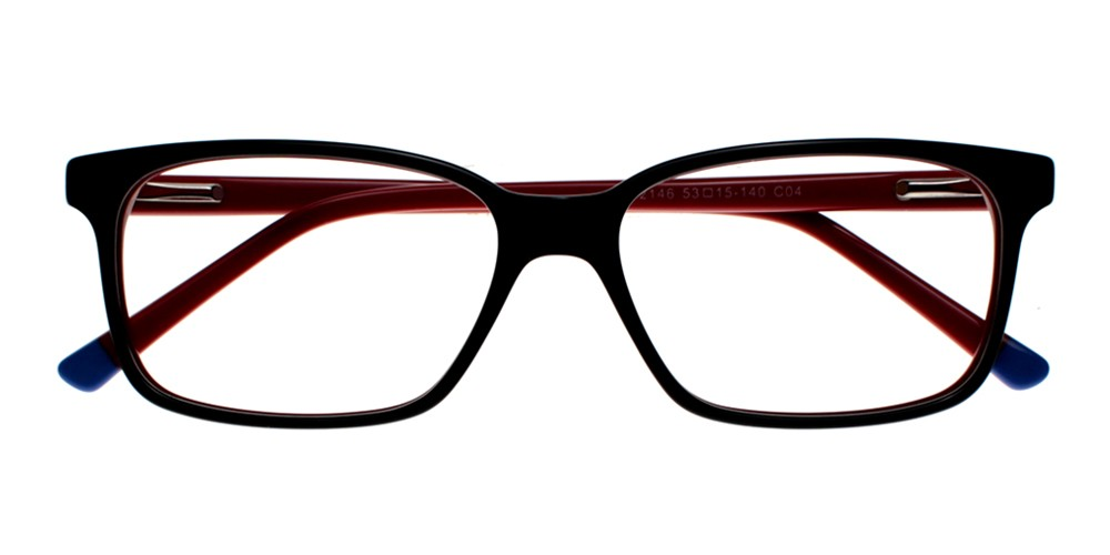 Benicia Eyeglasses RedBlack