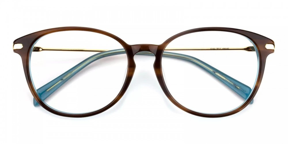 Clinton Acetate Eyeglasses Demi Amber