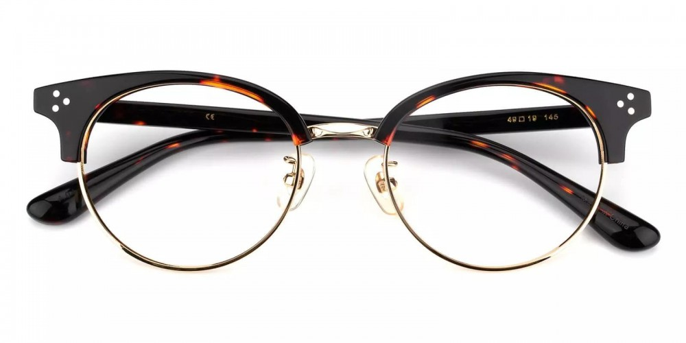 Clinton Acetate Eyeglasses Black Demi