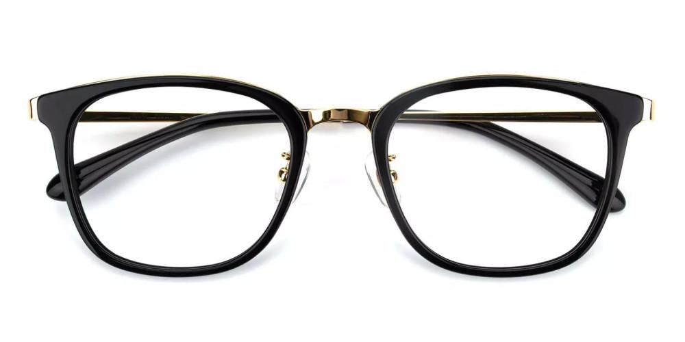 Vista Acetate Eyeglasses Black