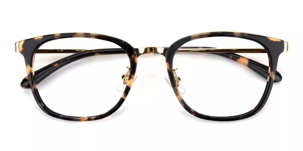 Vista Acetate Eyeglasses Demi Amber