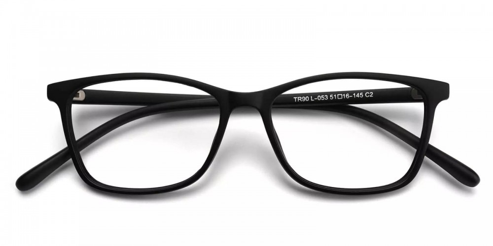 Davenport Light Weight Eyeglasses Black