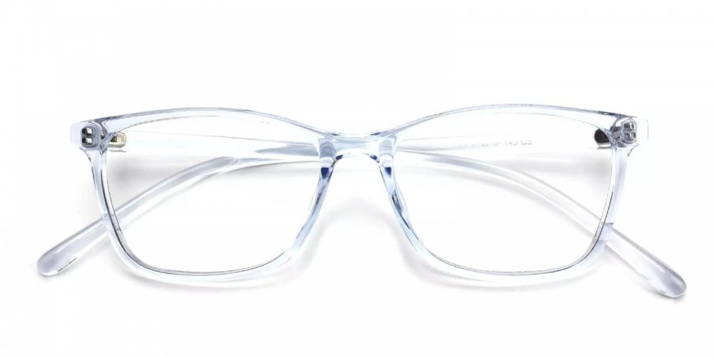 Davenport Light Weight Eyeglasses Blue Clear