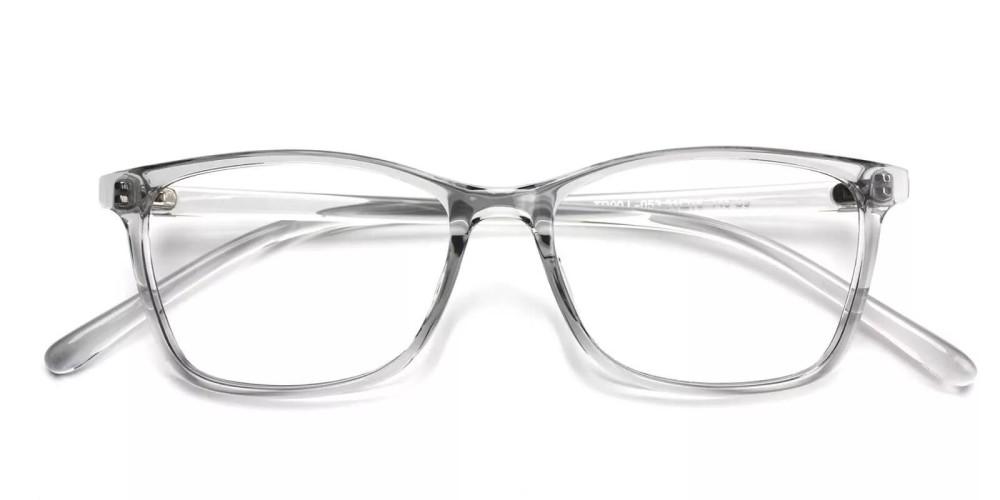 Davenport Light Weight Eyeglasses Gray Clear