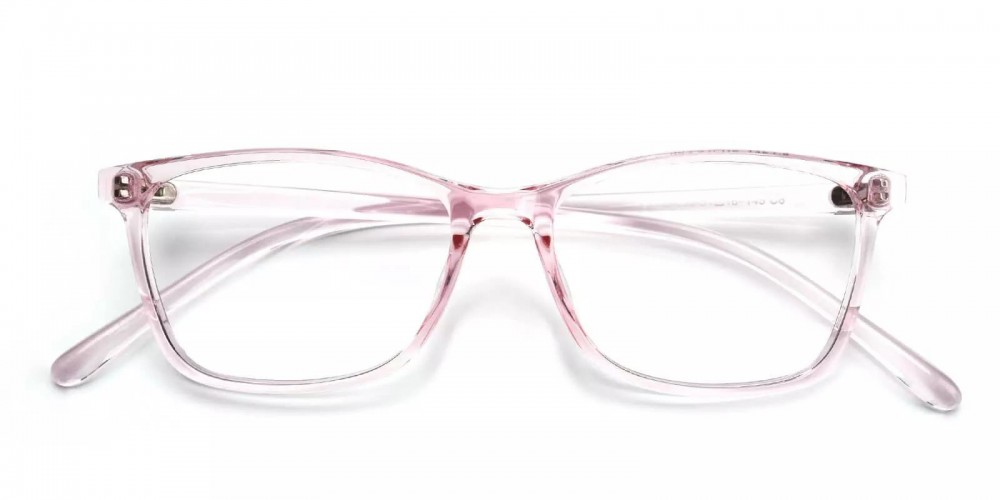Davenport Light Weight Eyeglasses Pink Clear