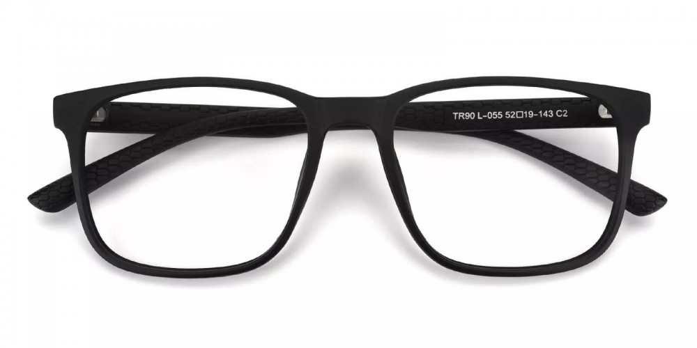 Renton Light Weight Eyeglasses Black