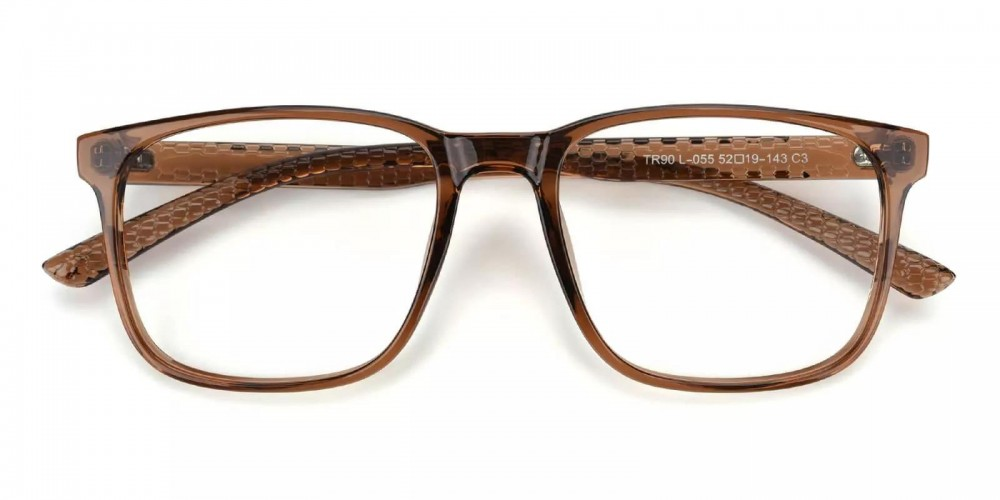 Renton Light Weight Eyeglasses Brown