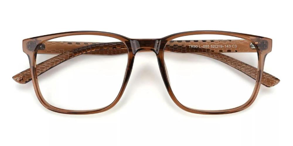 Renton Light Weight Eyeglasses Brown