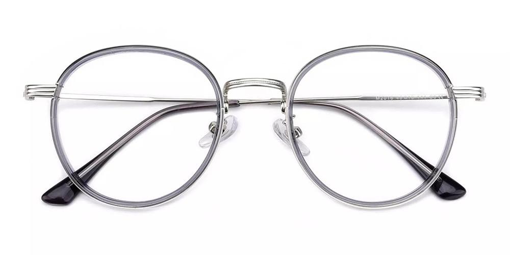 Macon Cheap Prescription Glasses Clear Grey