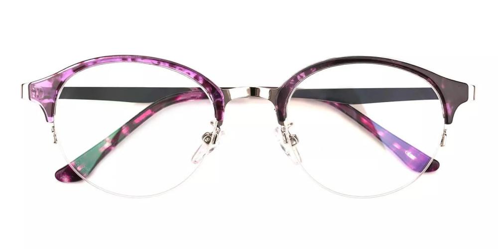 Meridian Half Rim Eyeglasses Purple