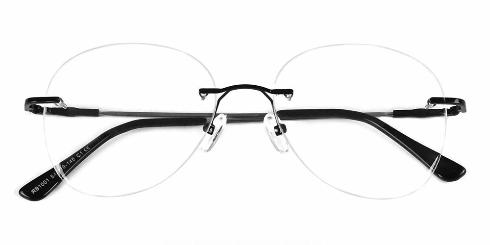 Bellevue Rimless Prescription Glasses Black