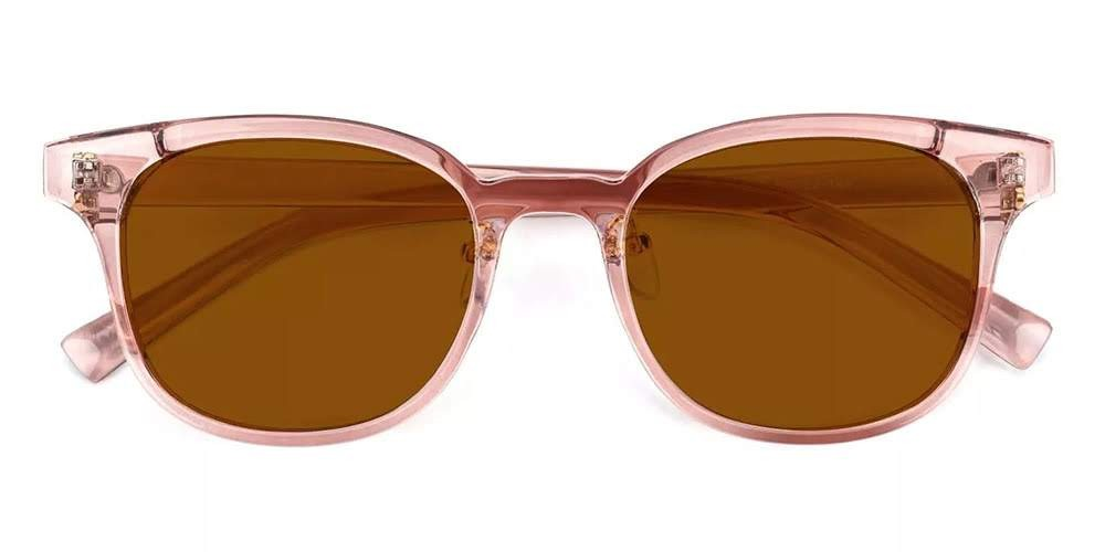 Clovis Prescription Sunglasses Clear Pink