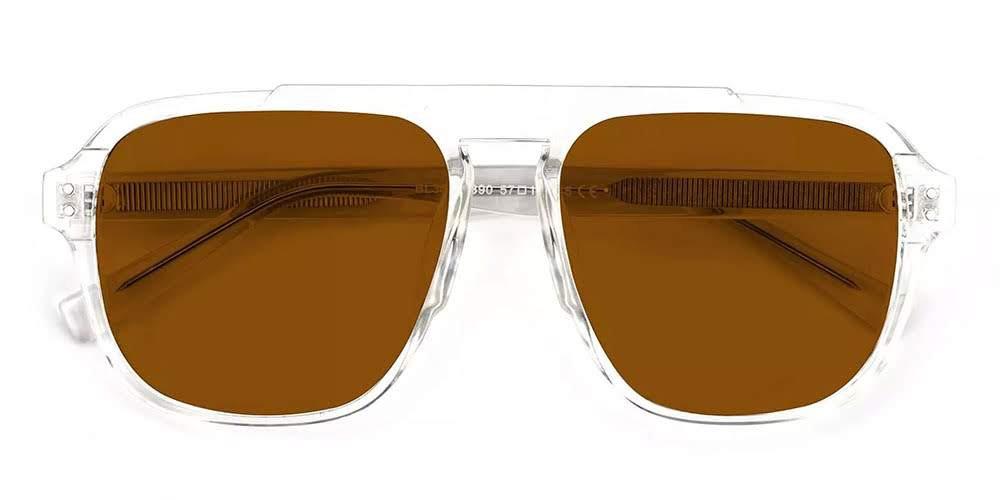 Manchester Aviator Sunglasses Clear